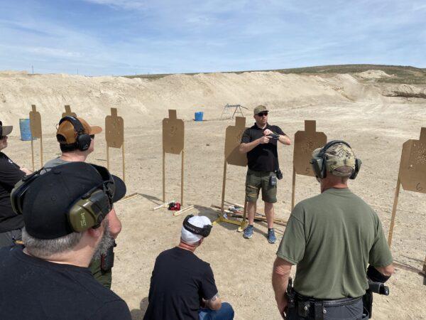 Riley Bowman Teaching Pistol Intelligence in Idaho